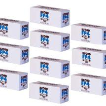 ILFORD FP4 125 120 x10PZ  BIANCO e NERO